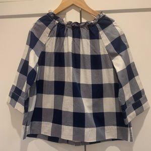 Like new girls Crewcuts buffalo-check plaid tunic